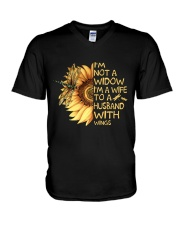 Im Not A Widow Im A Wife V-Neck T-Shirt thumbnail