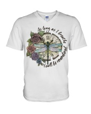 As Long As I Breath V-Neck T-Shirt thumbnail