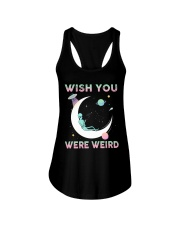 Wish You Were Weird Ladies Flowy Tank thumbnail
