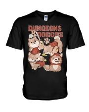 Dungeons Doggos V-Neck T-Shirt thumbnail