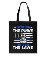 Supporting The Paws Tote Bag thumbnail