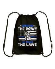 Supporting The Paws Drawstring Bag thumbnail