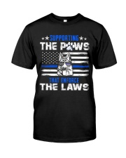 Supporting The Paws Classic T-Shirt front