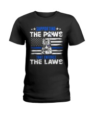 Supporting The Paws Ladies T-Shirt thumbnail