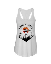 I Want To Leave Ladies Flowy Tank thumbnail
