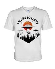 I Want To Leave V-Neck T-Shirt thumbnail