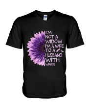 Im Not A Widow V-Neck T-Shirt thumbnail