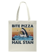 Shark Bite Pizza Tote Bag thumbnail