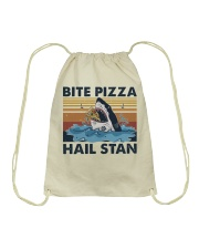 Shark Bite Pizza Drawstring Bag thumbnail