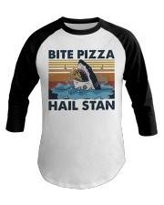 Shark Bite Pizza Baseball Tee thumbnail