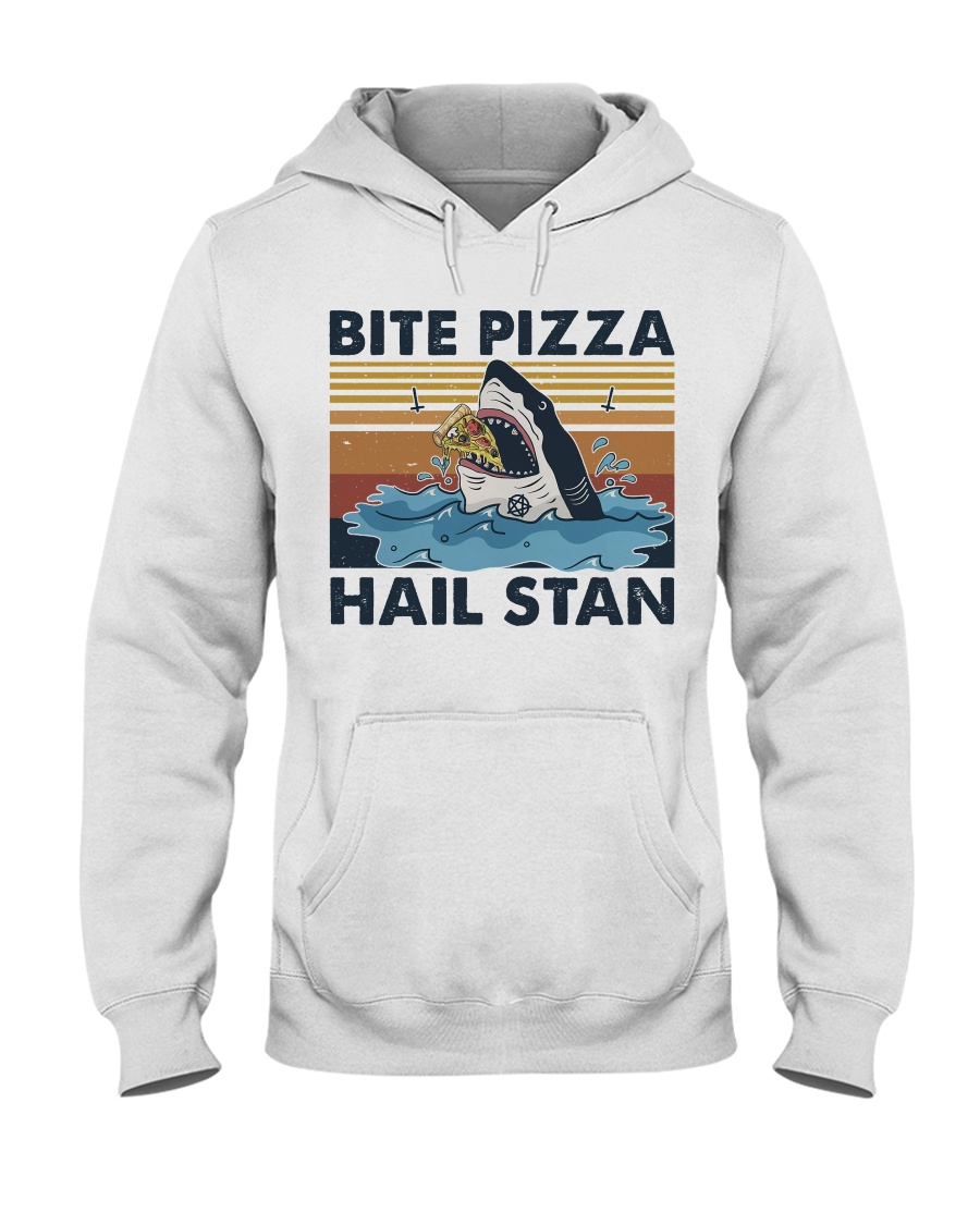 Shark Bite Pizza Hooded Sweatshirt