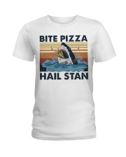 Shark Bite Pizza Ladies T-Shirt thumbnail