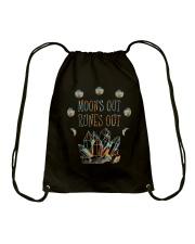 Moon Out Runes Out Drawstring Bag thumbnail