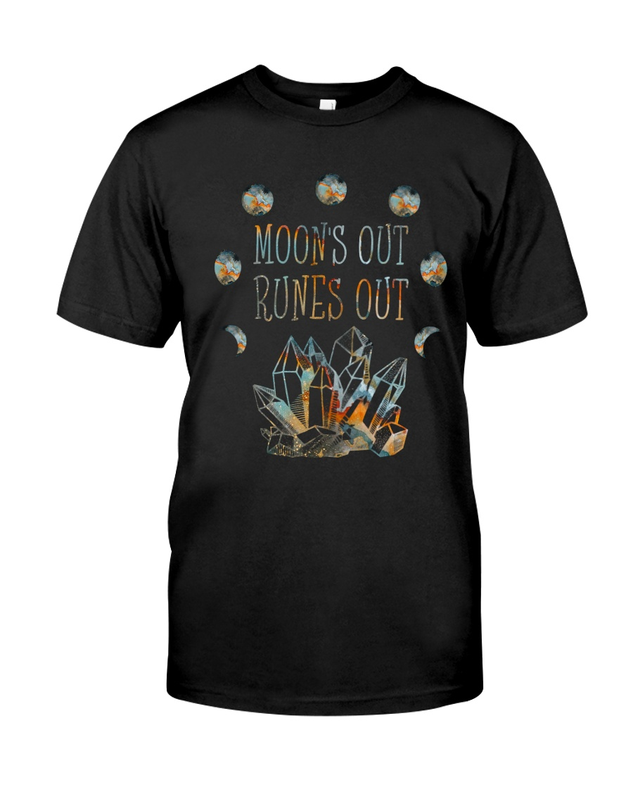 Moon Out Runes Out Classic T-Shirt
