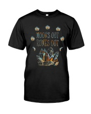Moon Out Runes Out Classic T-Shirt front