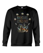 Moon Out Runes Out Crewneck Sweatshirt thumbnail