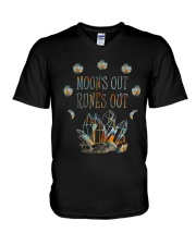 Moon Out Runes Out V-Neck T-Shirt thumbnail