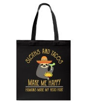 Sloths and Tacos Tote Bag thumbnail