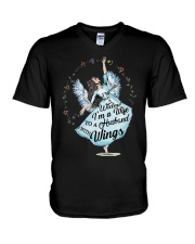 Im A Wife To A Husband With Wings V-Neck T-Shirt thumbnail