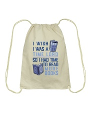 I Wish I Was A Time Lord Drawstring Bag tile