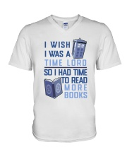 I Wish I Was A Time Lord V-Neck T-Shirt thumbnail