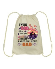 I Need You Here Dad Drawstring Bag tile