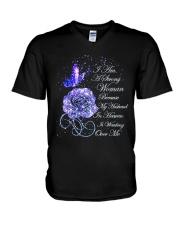 I Am A Strong Woman V-Neck T-Shirt thumbnail