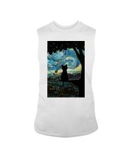Cat Starry Night Art Poster Sleeveless Tee thumbnail