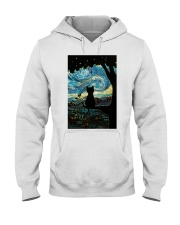 Cat Starry Night Art Poster Hooded Sweatshirt thumbnail