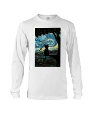 Cat Starry Night Art Poster Long Sleeve Tee thumbnail