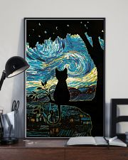 Cat Starry Night Art Poster 11x17 Poster lifestyle-poster-2