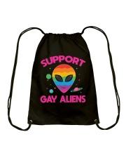Support Gay Alien Drawstring Bag thumbnail