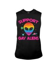 Support Gay Alien Sleeveless Tee thumbnail