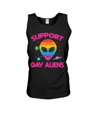 Support Gay Alien Unisex Tank thumbnail