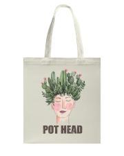 Pot Head Cactass Girl Tote Bag thumbnail