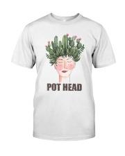 Pot Head Cactass Girl Classic T-Shirt front