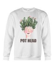 Pot Head Cactass Girl Crewneck Sweatshirt thumbnail