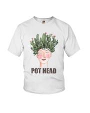 Pot Head Cactass Girl Youth T-Shirt thumbnail