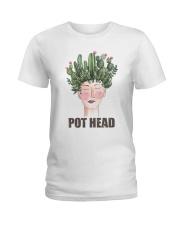 Pot Head Cactass Girl Ladies T-Shirt thumbnail