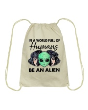 In A World Full Of Humans Drawstring Bag thumbnail
