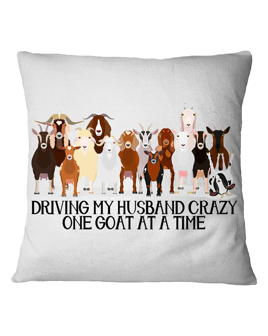 One Goat At A Time Square Pillowcase