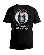 Husband With Wings V-Neck T-Shirt thumbnail