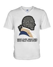 Who Lives Who Dies V-Neck T-Shirt thumbnail