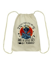 Im Mostly Peace Love Light Drawstring Bag thumbnail