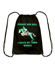 Forget Red Bull I Have My Own Wings Drawstring Bag thumbnail