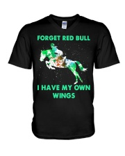 Forget Red Bull I Have My Own Wings V-Neck T-Shirt thumbnail