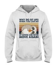 Why Do Sit Up Hooded Sweatshirt front