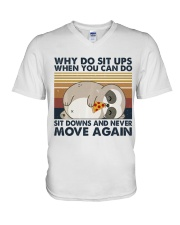 Why Do Sit Up V-Neck T-Shirt thumbnail