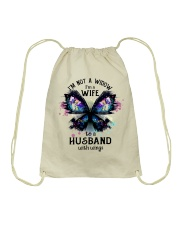Im A Wife To A Husband With Wings Drawstring Bag thumbnail