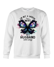 Im A Wife To A Husband With Wings Crewneck Sweatshirt thumbnail